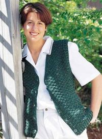 Ladie's Speckled Vest free crochet pattern