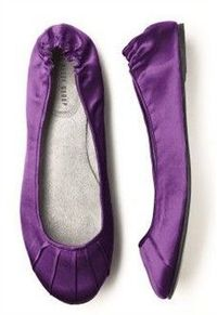 Flats for the reception that match my shade of purple