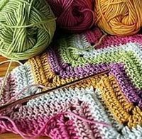 Zigzag, chevron or ripple crochet patterns use regularly spaced increases and decreases to form the peaks and valleys of the zigzag.