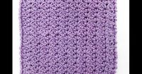 Learn A Stitch Washcloth 3: Mini Shell Stitch