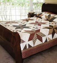 "Make this queen size quilt with 10"" squares."