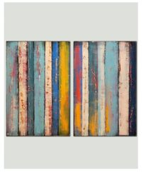 """Duo Extra Large Panels - 199, 2015 Acrylic painting by Ronald Hunter $899 Acrylic painting, Canvas One of a kind artwork Size: 160 '�€"""" 120 '�€"""" 2 cm (unframed) / 160 '�€"""" 120 cm (actual image ..."""