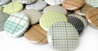 Vintage GRAPH PAPER Magnets OR Pinback Buttons - Assorted $5