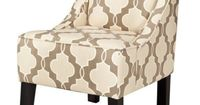 Swoop Upholstered Accent Chair - Luca Geometric Stone $199.00