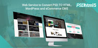 Convert Design Pixel Perfect from PSD to html5 responsive, PSD to WordPress, psd to eCommerce CMS just for 99$ only within 24hours with friendly service.