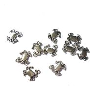 Pack of 10 Silver Coloured Crab Charms. Ocean Seaside Animal Nature Pendant. 13mm x 15mm £3.99