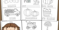 In this FREE 12-page mini-coloring book, from Mamas Learning Corner, you'll find: 	�€˜It's Fall!'