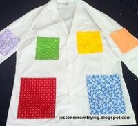 pockets! Good ideas and games to play with this fun coat of many colored pockets.