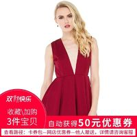 Sexy Open Back Pleated Hollow Out Slimming Curvy V-neck High Waisted Sleeveless Top Dress - Bonny YZOZO Boutique Store