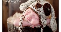 Custom Little Brown Puppy Dog Crocheted Hat/Beanie sizes Newborn - Adult.... So Cute.... Made to order on Etsy, $26.00