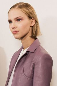 Tom Pecheux creates a buildable spin on more predictable nude makeup backstage at Derek Lam.