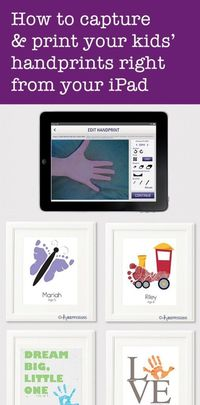 With Handpressions, you just snap a photo of your baby's hands or feet, then edit the image, and voila ... you've got your baby footprint.