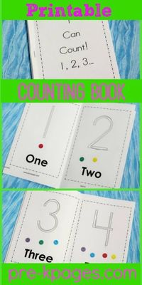 Printable 1-10 Sticker Counting Book
