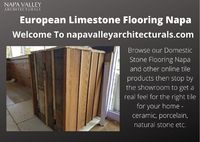 Browse our Domestic Stone Flooring Napa and other online tile products then stop by the showroom to get a real feel for the right tile for your home - ceramic, porcelain, natural stone etc.