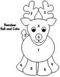 Roll and Color Reindeer dice game