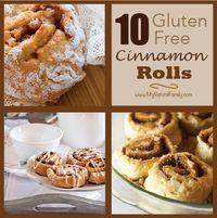 10 gluten free Cinnamon roll recipes. I have not vetted each of these recipes, but boy, has this collection made me hungry for a #GF cinnamon roll fresh out of the oven!