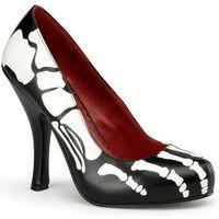 Women's skeleton shoe. Halloween. Dia de Los muertos costume