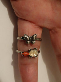 Navajo Sterling Silver Unsigned RARE Beautiful 3D Butterfly Ring. $69.00