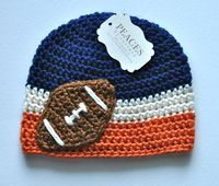 Denver Broncos / Chicago Bears Inspired Beanie Hat for Baby or Child - Peaces by Cortney