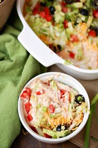 The best part about this Weight Watchers Taco Dip recipe is that it's not just for the Super Bowl. It's for any gathering, and though it would mostly be a side/