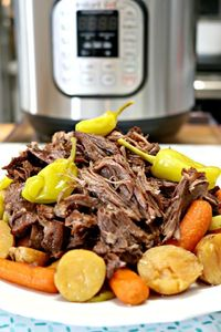 A Mississippi Roast is full of flavor and is sure to become a family favorite recipe. It's easy to cook in a short amount of time and feeds a crowd too.