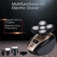 �Ÿ˜�5 In 1 Men's 4D Electric Shaver Rechargeable 5 Floating Heads Beard Nose Ear Hair Trimmer Bald Head Razor Clipper Face Brush44�Ÿ˜� $26.23