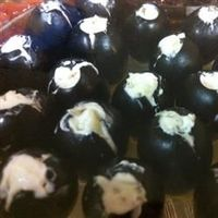 Stuffed Olives Allrecipes.com Maybe, use a piping bag or cake decorating tool in place of butter knife.