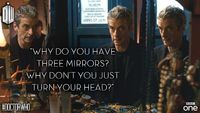 The Doctor asks the important questions.