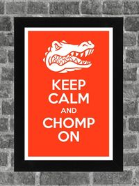 Keep Calm Florida Gators NCAA Print Art 11x17 by PortlandInkery, $14.99