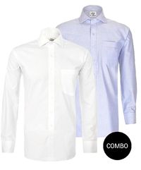 Blue Oxford and White Twill Regular Fit Shirt Combo �'�2098.00