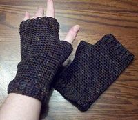 men's fingerless gloves: free pattern