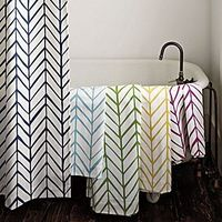 Serena & Lily Feather shower curtain