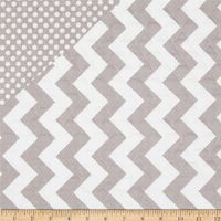 Riley Blake Double Sided Quilted Medium Chevron Grey from