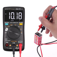 ZT102A Auto Functional Multimeter 6000 Counts Back Light AC/DC Ammeter Voltmeter Ohm Frequency Diode Temperature