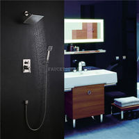 Nickel Brushed ABS Nickel Finish Brass Rainfall Shower Faucet