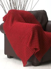 Red Blanket - Free Crochet Pattern - (yarnspirations)