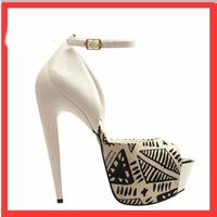 Strang Snake Open Toe Black/White Women Sandals Shoes Luxury Buckle Big Size 12 Beat Quality Platform High Heels Ankle Sexy