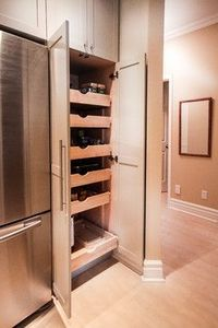 Pantry with slide out drawers