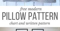 This free modern crochet pillow pattern makes a perfect DIY housewarming gift or dorm room decor idea. Free pattern includes written instructions + a chart