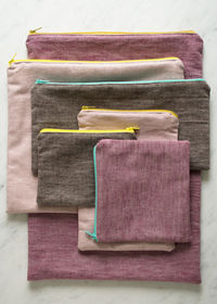Simple zippered pouches