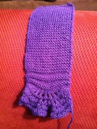 Knitting+Projects | photo details almost done 1st knit project ever