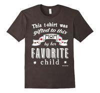 Men's Mothers Day Tshirt Gift from Moms Favorite Child Small Asphalt Mom and ...