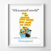 Disneyland It's a Small World Print by Inkist Prints - Available at https://www.inkistprints.com