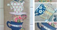 Tea Cups Applique by Bustle & Sew, via Flickr
