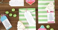 Colorful Printable Christmas Tags- Free All is Bright Printable tags. Hand painted with watercolors by a talented graphic designer and artist.