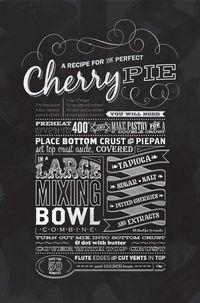 "Designspiration �€"" �™� GRAPHISM & FONTS / Typographic Dessert Recipe Prints by Leanda Zavian of One Little Bird Studio"