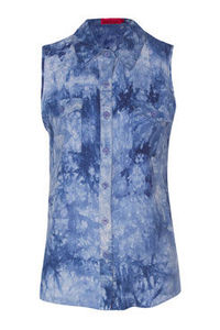 boohoo Hollie Sleeveless Tie Dye Blouse Female Day tops are essential for any occasion this seasonEvery wardrobe should be filled with a variety of day tops for all occasions. For the daytime, choose basic jersey tops, printed tees and denim shirt http://...