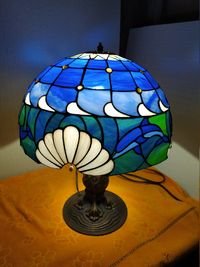 Stained glass shade for #Mary. $180.00