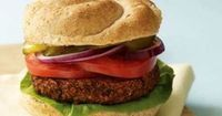 Black bean/quinoa burger via vegetarian times