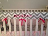 Crib Rail Teething Guard Personalized by lovebuglinens on Etsy, $32.00